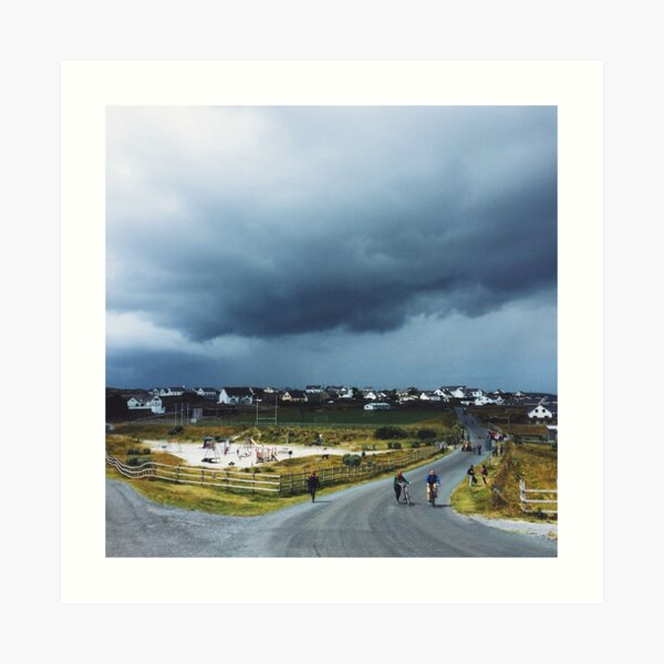 Storm Cloud over Inis Oirr Art Print
