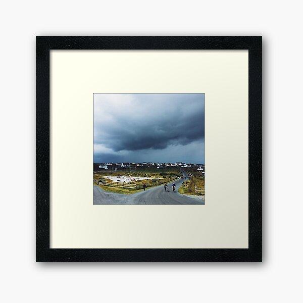 Storm Cloud over Inis Oirr Framed Art Print