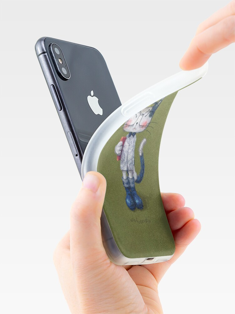 Alternate view of Cat Man - Literary Youth 2 iPhone Case & Cover