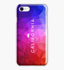 Great State of California with Polygon Background iPhone Case/Skin