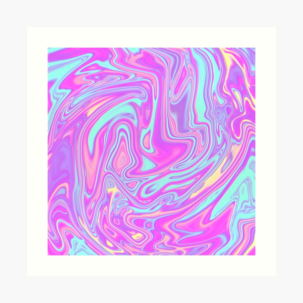 Liquid Rainbow Art Print