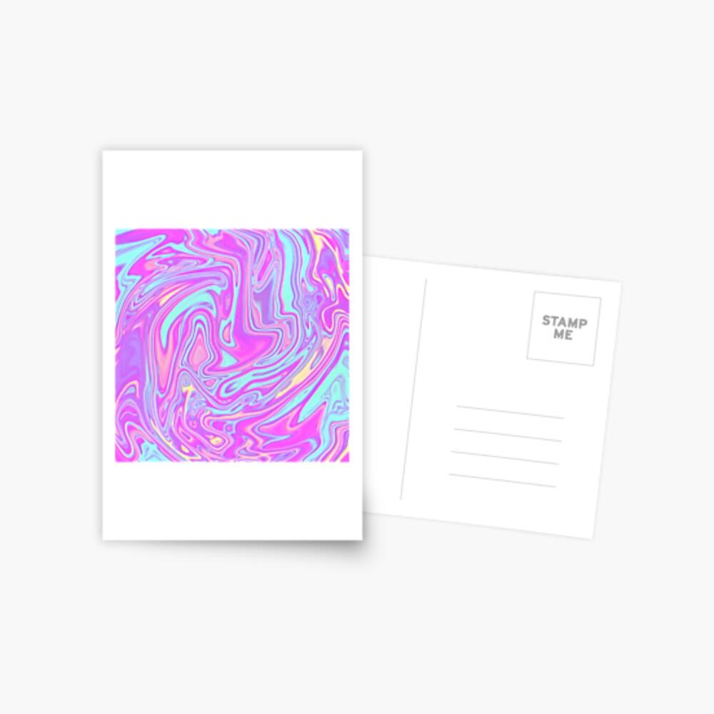 Liquid Rainbow Postcard