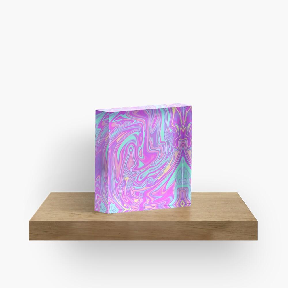 Liquid Rainbow Acrylic Block