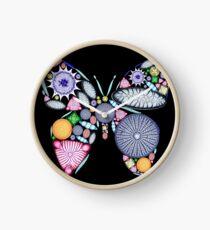 diatom butterfly Clock