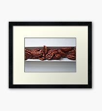 Spicy Roasted Honey Pecans Framed Print