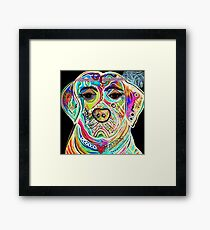 Lady Lab Framed Print
