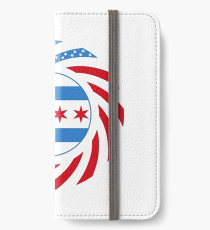 Chicago Murican Patriot Flag Series iPhone Wallet