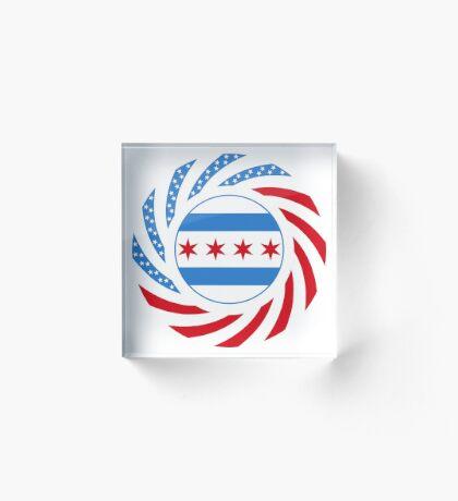Chicago Murican Patriot Flag Series Acrylic Block