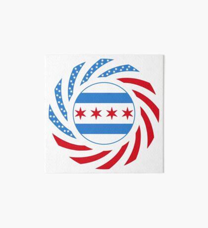 Chicago Murican Patriot Flag Series Art Board Print