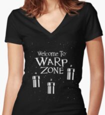 Welcome to Warp Zone Women's Fitted V-Neck T-Shirt