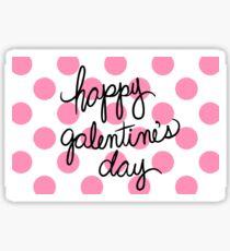 Happy Galentine's Day Polka Dots Sticker