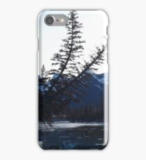 Trees over river iPhone Case/Skin