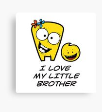 I LOVE MY LITTLE BROTHER Canvas Print