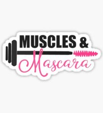 Muscles and Mascara Sticker
