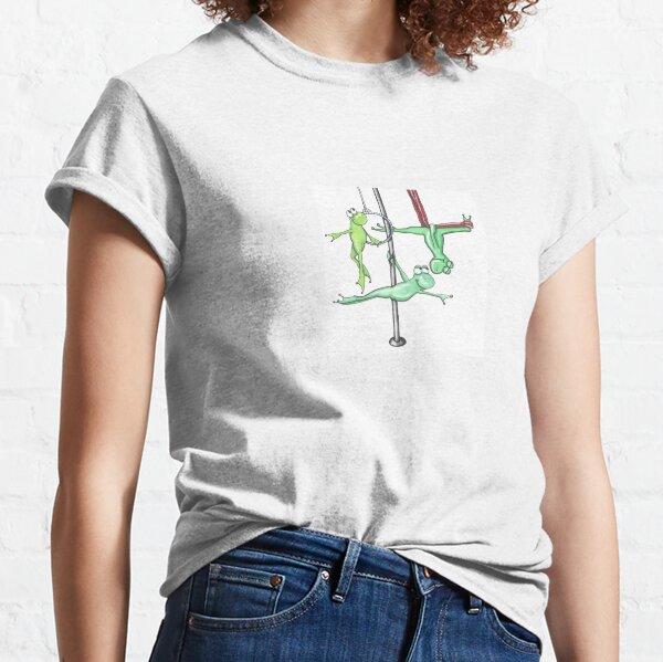Circus Frogs Aerialist Amphibians Print Classic T-Shirt