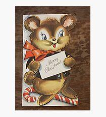 Vintage Christmas Card #2 Photographic Print