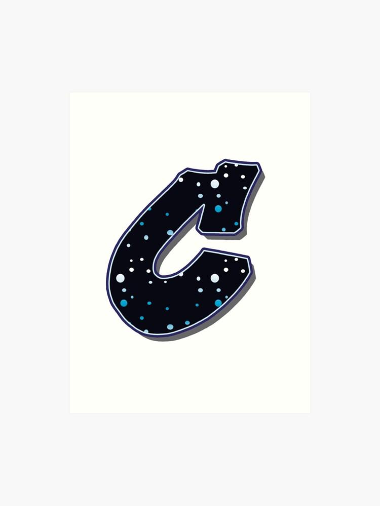 Lettre C Points Impression Artistique
