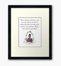 We should all be feminists  Framed Print