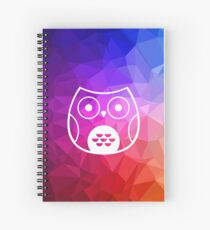 Cute Owl with Polygon Background Spiral Notebook