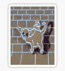 GINGERBREAD CHIHUAHUA SMARTPHONE CASE (Graffiti) Sticker