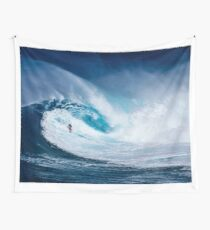 Wave and Surfer Wall Tapestry