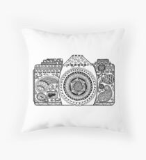 Camera Doodle  Throw Pillow