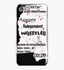 NXTlvl Josh Matthews MS Indy Wrestler iPhone Case/Skin