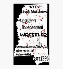 NXTlvl Josh Matthews MS Indy Wrestler Photographic Print