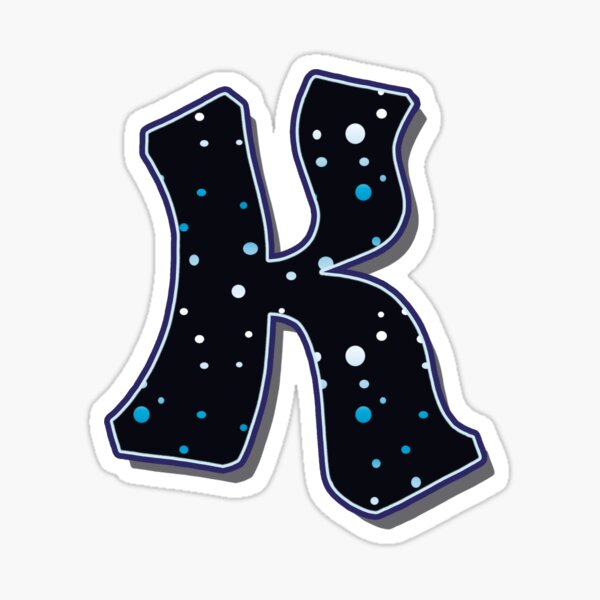 Letter K - Dots Sticker