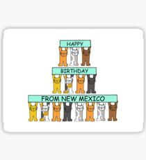 New Mexico Birthday Cats Sticker