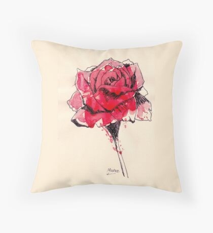 Rose of friendship Throw Pillow