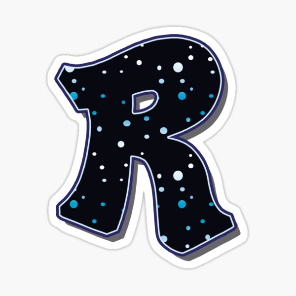Letter R - Dots Sticker