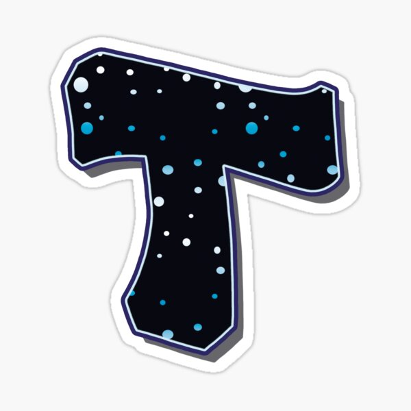 Letter T - Dots Sticker