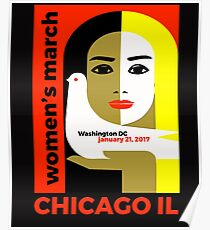 Women's March on Washington 2017, Chicago Illinois tshirt Poster