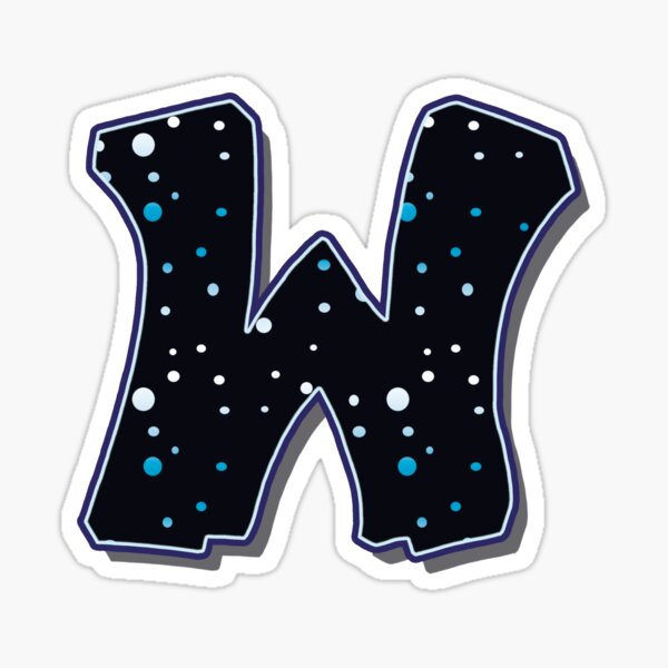 Letter W - Dots Sticker