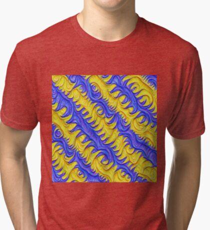 Frozen frequencies #DeepDream #Art Tri-blend T-Shirt