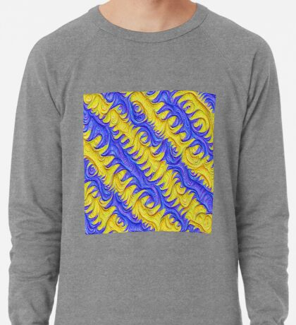 Frozen frequencies #DeepDream #Art Lightweight Sweatshirt