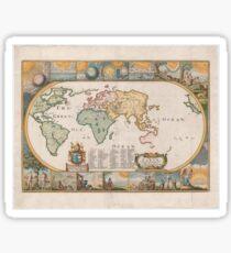 World Map 1681 Sticker