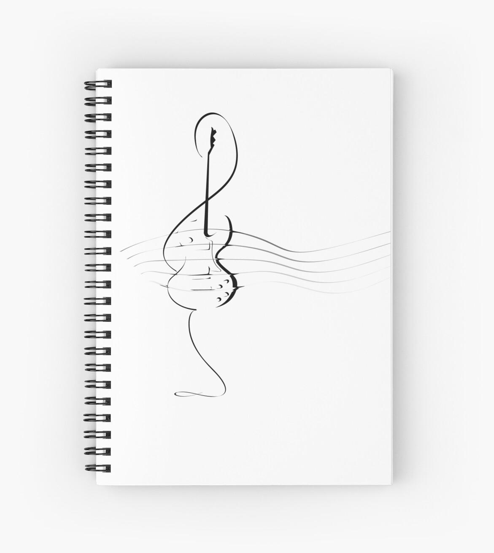 Clave De Sol Guitarra Cuaderno De Espiral By Morning Light