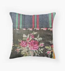 Antique Bohemian Handicraft Rugs Throw Pillow