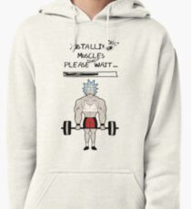 Rick and Morty. Installing muscles. Pullover Hoodie