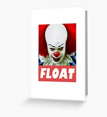 pennywise float Greeting Card