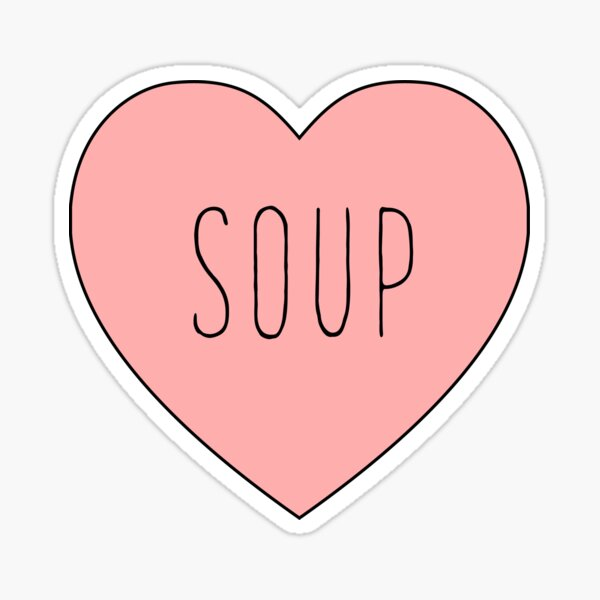 I Love Soup Heart Sticker