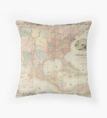 North America 1849 Throw Pillow