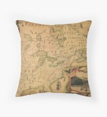 Northernmost America 1688 Throw Pillow