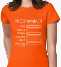 Programmer Stats Womens Fitted T-Shirt