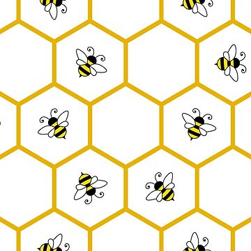 Honeycomb and bee pattern by florintenica