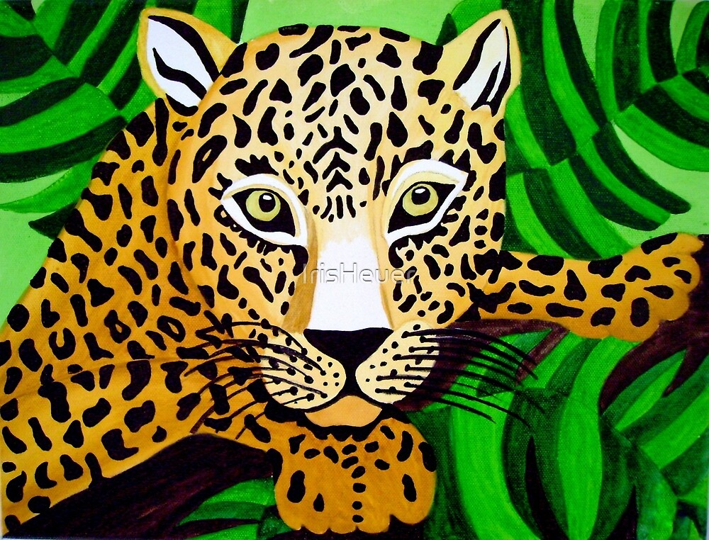 Leopard naive painting by IrisHeuer