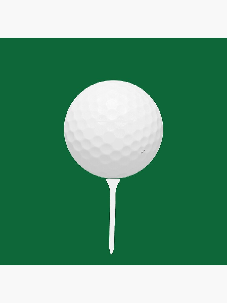 Golf Ball On Tee Art Board Print By Pharrisart Redbubble