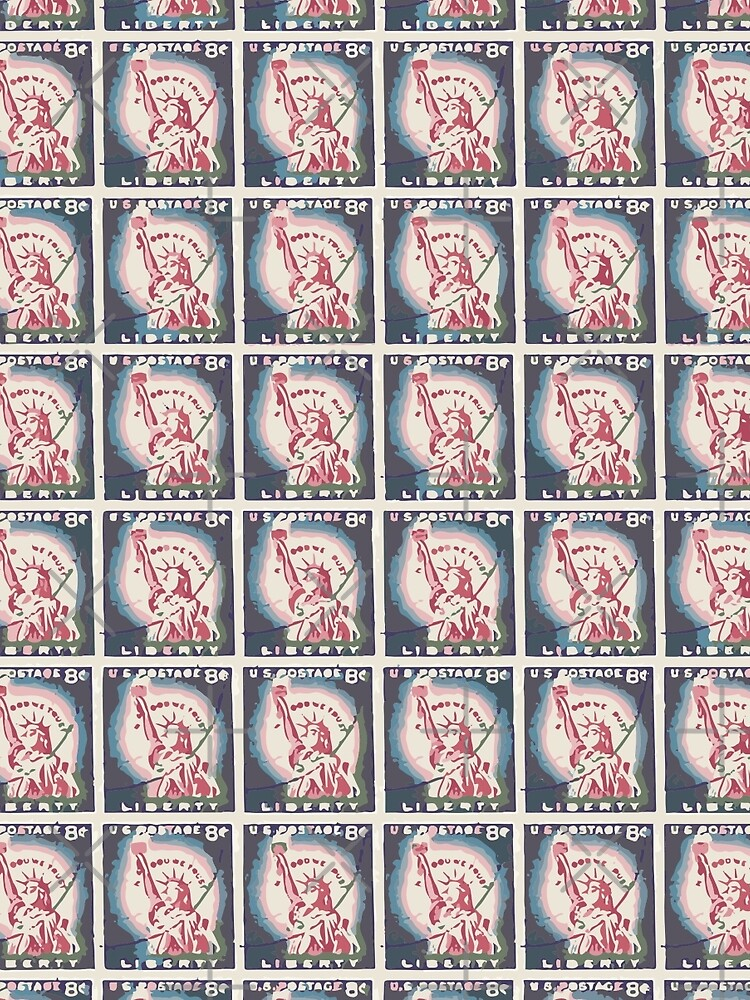 Statue of Liberty Stamps Collage by morningdance